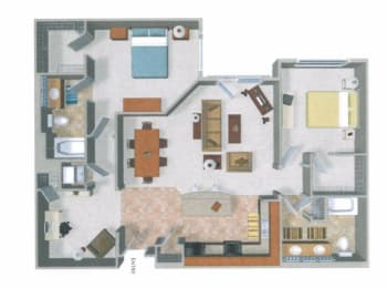 Beaumont Apartments Floor Plan, Woodinville, Washington