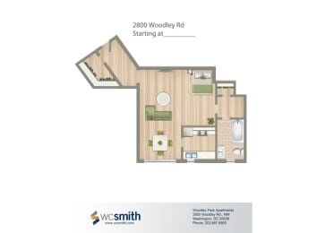 704-Square-Foot-Studio-Apartment-Floorplan-Available-For-Rent-2800-Woodley-Road