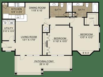 Floor plan at Veranda property LLC, Lawrenceville, GA, 30044