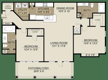 Floor plan at Veranda property LLC, Lawrenceville, GA