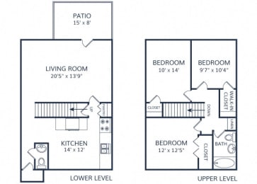 Mile High Townhome 3 bed 2.5 bath