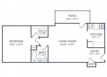 Westmoore Apartment 1 bed 1 bath