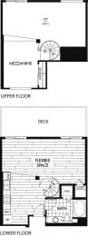 Floor plan at Trio Apartments, Pasadena, CA 91101