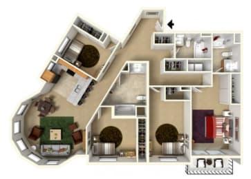 Floor Plan at Redmond Square, Redmond, WA 98052