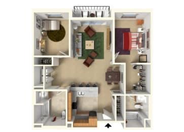 Floor Plan at Redmond Square, Redmond