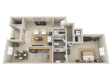 Floor Plan 1 BDRM
