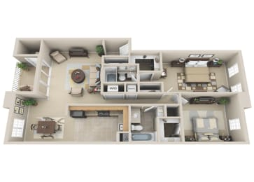 Floor Plan 2 BDRM