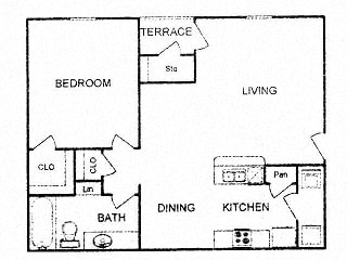 Floor plan at Clear Creek Meadows, Copperas Cove