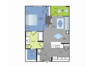 Floor plan at The Encore Apartments, Plano, TX 75024