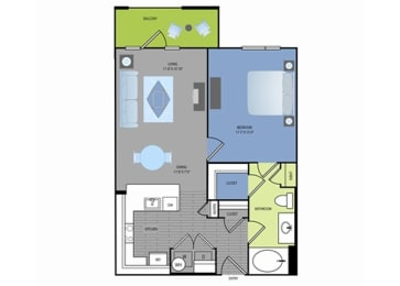Floor plan at The Encore Apartments, Plano, TX