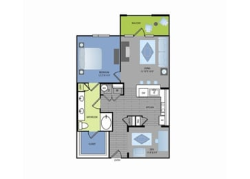 Floor plan at The Encore Apartments, Plano,Texas