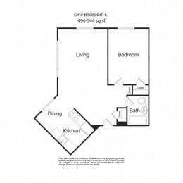 LockVista FP|OneBedroomC|1b1b|494-544sf