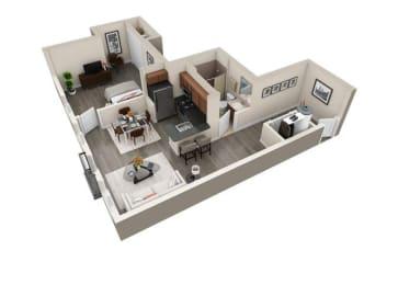 Floor Plan 1x1 C