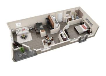 Floor Plan 1x1 D