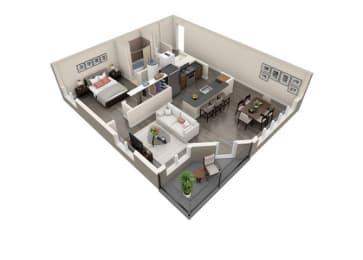 Floor Plan 1x1 E