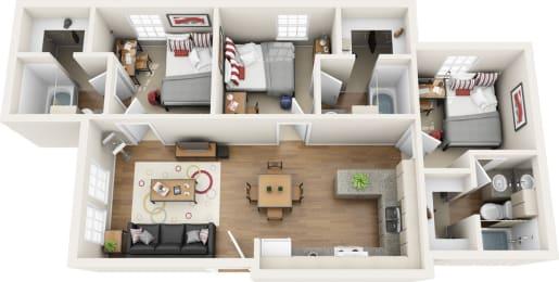 Floor Plan 3 BED 3 BATH