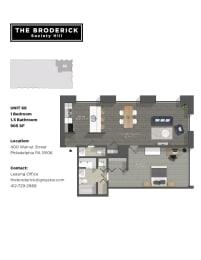 The Broderick 1B1B 905sf