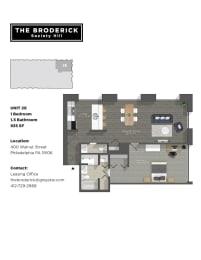 The Broderick 1B1B 935sf
