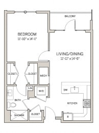 1 Bed 1 Bath A1 at AVE King of Prussia, King of Prussia, 19406