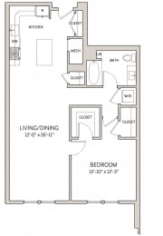 1 Bed 1 Bath A16 at AVE King of Prussia, King of Prussia, Pennsylvania