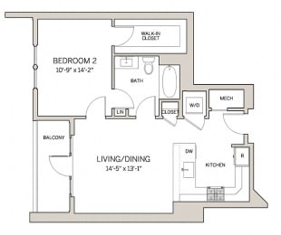 1 Bed 1 Bath A3 at AVE King of Prussia, King of Prussia, 19406