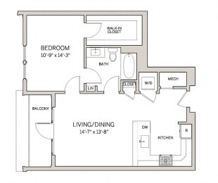1 Bed 1 Bath A4  at AVE King of Prussia, Pennsylvania