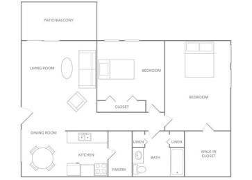 Antigua 1000B Floor plan at Paradise Palms, Phoenix,Arizona