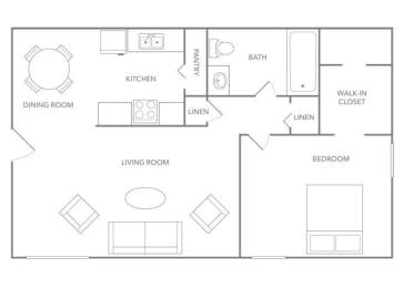 Barbados 750A Floor plan at Paradise Palms, Arizona