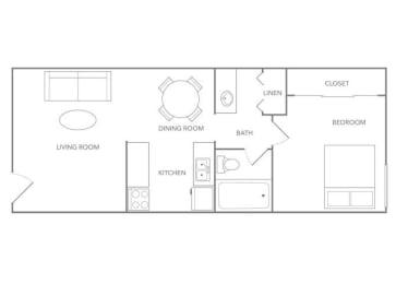Fiji 550A Floor plan at Paradise Palms, Phoenix