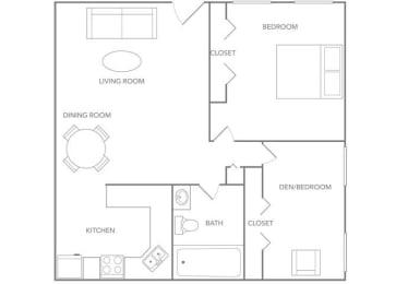 Maui 825 Floor plan at Paradise Palms, Phoenix, AZ 85014