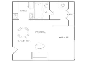 Oasis 330A Floor plan at Paradise Palms, Phoenix, AZ