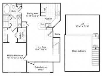 Floor Plan A4 with Loft