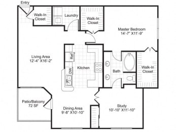 Floor Plan A6 with Den