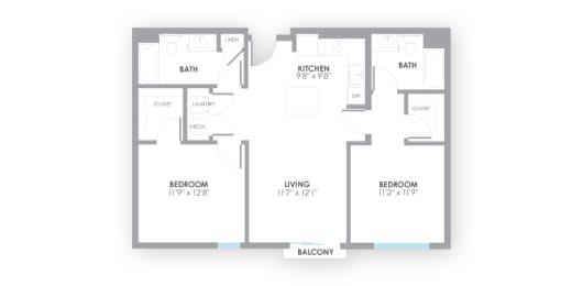 Circuit Floor Plan at AMP Apartments, Kentucky, 40206, opens a dialog