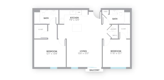 Spacious  Circuit2 Floor Plan at AMP Apartments, Louisville, opens a dialog