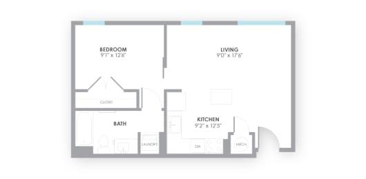 Gauge Floor Plan at AMP Apartments, Kentucky, opens a dialog