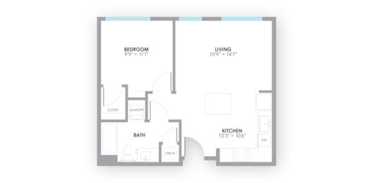 Relay Floor Plan at AMP Apartments, Kentucky, 40206, opens a dialog