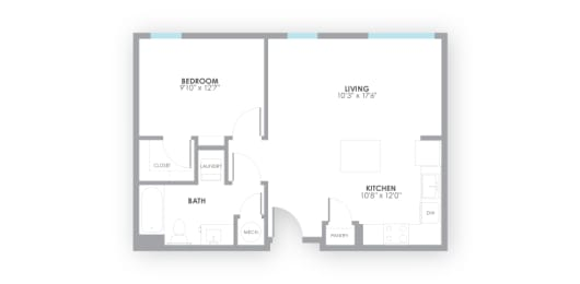 Relay2 Floor Plan at AMP Apartments, Louisville, KY, 40206, opens a dialog