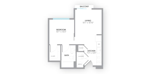 Turbine Floor Plan at AMP Apartments, Louisville, 40206, opens a dialog