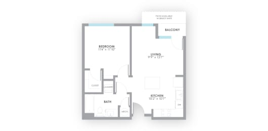 Volt Floor Plan at AMP Apartments, Louisville, KY, opens a dialog