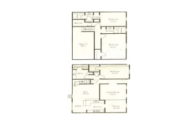 3 bedroom 3 bathroom floor plan at Wellington Estates in San Antonio, TX, opens a dialog