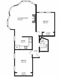 Floor Plan 2300 CLAR -2 BED