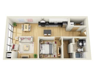 Floor Plan ONE BEDROOM C
