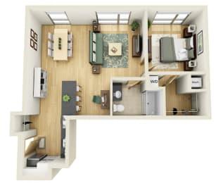 Floor Plan ONE BEDROOM D