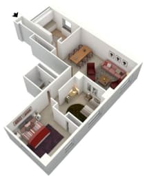 Floor Plan 2 BEDROOM - LARGE