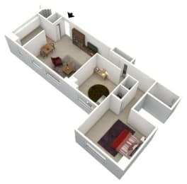 Floor Plan 2 BEDROOM - MEDIUM