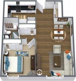 Floor Plan ONE BEDROOM CLASSIC