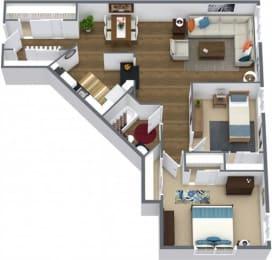 Floor Plan TWO BEDROOM CLASSIC