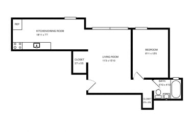 Floor Plan 1 BED