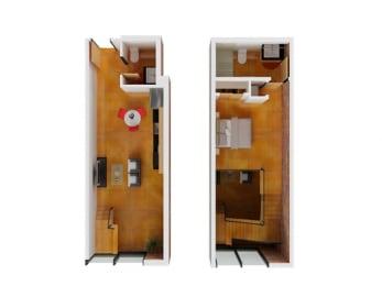 Floor plan at Arc Light, San Francisco